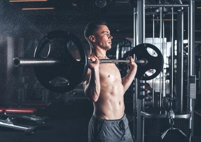 shoulder workout barbell press front
