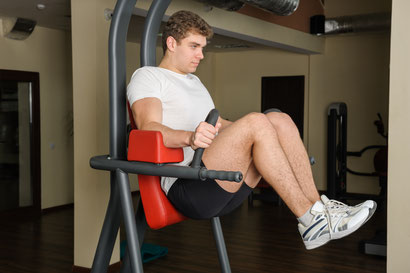 ab workout hanging knee raises