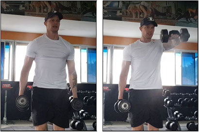 shoulder workout dumbbell front raise
