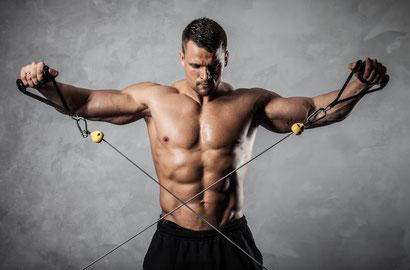 shoulder exercises bent-over cable raise