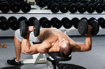 chest exercise decline dumbbell press