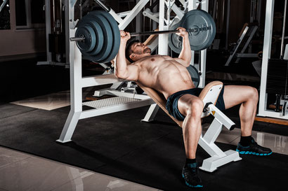 Chest exercise incline bench press