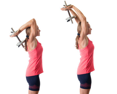 tricep exercise dumbbell extension
