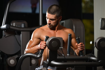 back exercises machine row