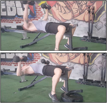 chest exercise decline dumbbell press