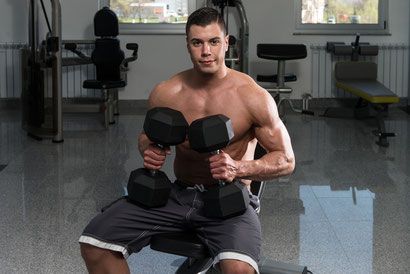 shoulder workout seated dumbbell front raise
