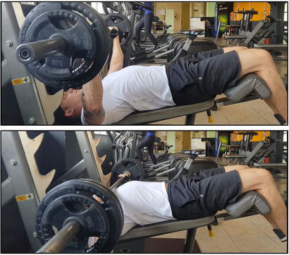 chest exercises decline bench press