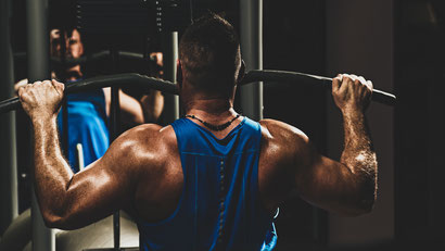 back exercises lat pulldown front