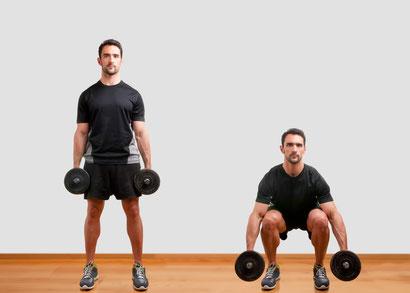 leg exercises dumbbell squat