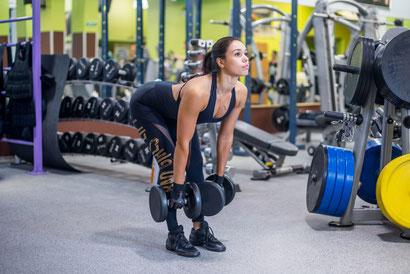 back exercises dumbbell deadlift