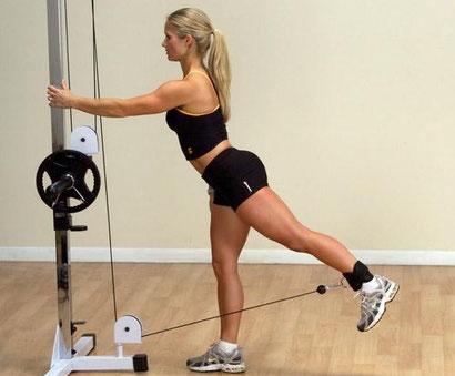leg exercise cable kickback