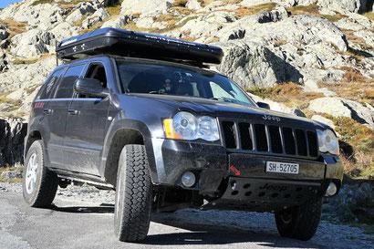 Jeep Grand Cherokee WH CRD Overlan 3.0 5.7 offroad 4x4 wolf78-overland trailmaster dachzelt Westalpen