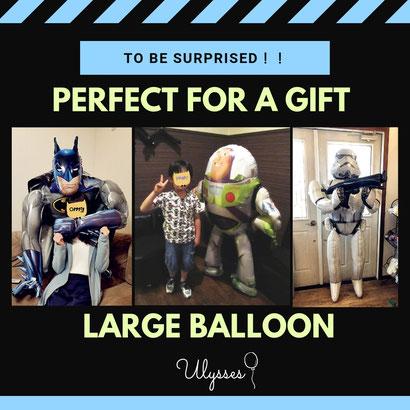 大きなキャラクターバルーン ギフトにお勧め プレゼントにおすすめ バッドマン バスライトイヤー