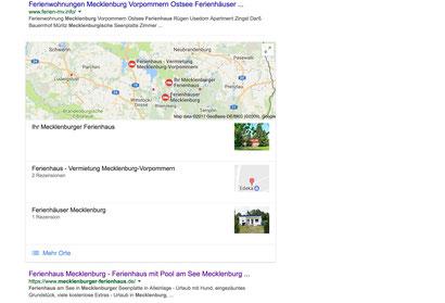 Ferienhaus richtig vermieten Webseite Google Ranking