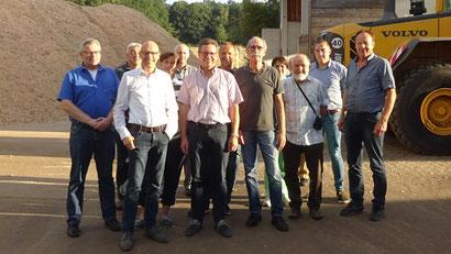 Gewerbeverein Grebenau bei Besichtigung Hessen Pellets Hosenfeld