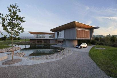 Das Projekt Haussicht ist ein Blick in die Zukunft des ökologischen Holzhausbaus. Foto: Baufritz