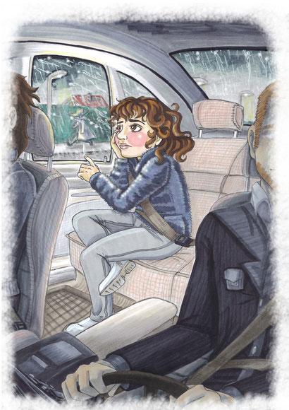 #traurigeskind #kinderbuchillustration #düster #regnerisch