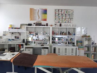Einer der Praxisräume der Naturheilpraxis Bieder in Ofterdingen