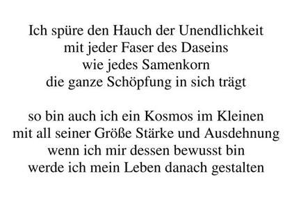 """Aus: Ute Licht """"Weggedanken"""""""
