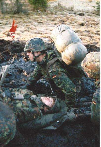 Überlebenstraining bei der Bundeswehr