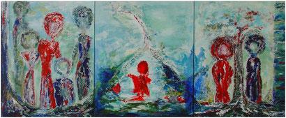 """Ute Licht """"Leben"""" Triptychon"""