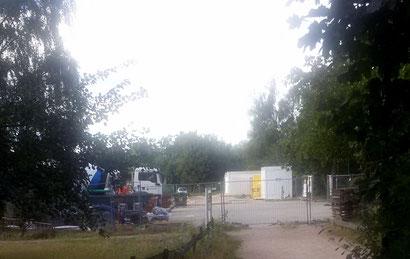 Die Großbaustelle für das neue Familienzentrum am Schulsee