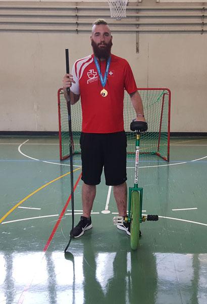 Christian Jäggi Einradhockey Weltmeister 2018 - Reusser Transporte AG Biberist