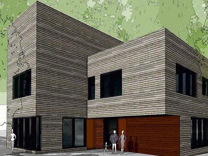 Visualisierung Haus der Begegnung (Hamburg.de / Wacker Zeiger Architekten)