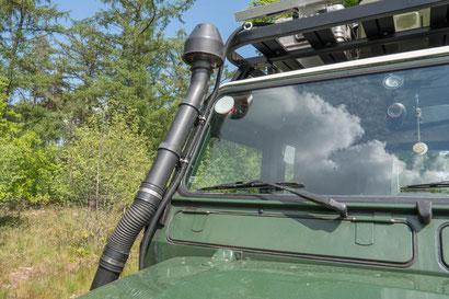 Snorkel on the Land Rover Defender 110