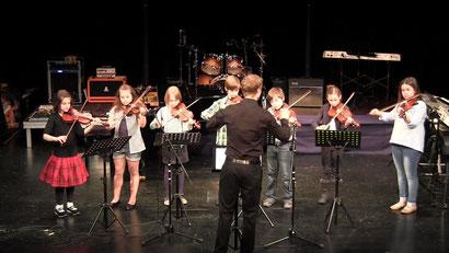 Streicheleinheit piccolo beim Jahreskonzert 2012