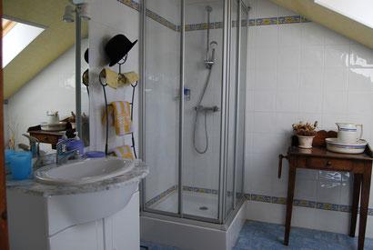 La salle d'eau...