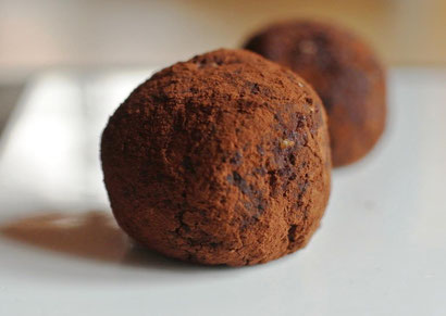 Resteverwertung aus Tee-Satz: Ingwer-Orangen-Praline