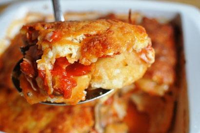 Pizza-Auflauf oder Bubble-up-Pizza selbst gemacht