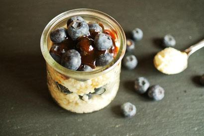 Milch-Couscous mit Dosenfrüchten süß aus dem Not-Vorrat
