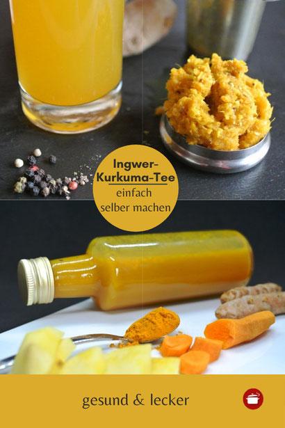 Tee aus den Ingwer-Kurkuma-Resten
