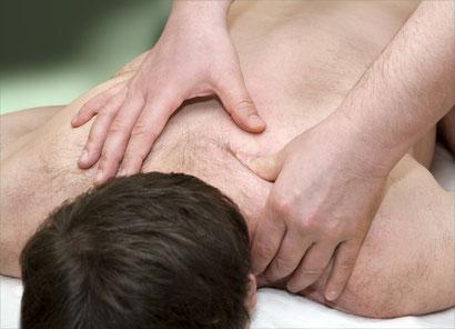 Friktion der Nackenmuskulatur