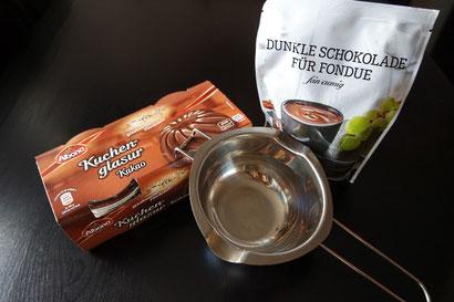 Schmelztopf, Glasurtopf, Wasserbad-Schmelzschale von K.D. Michaelis