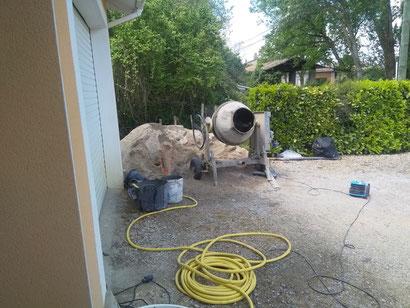 Préparation du mortier pour la chape