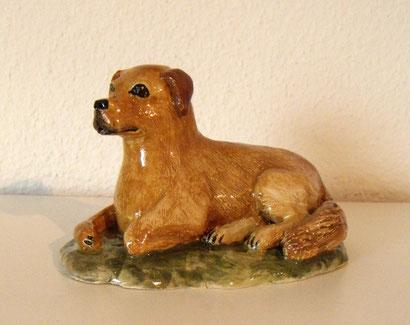 Hund aus Keramik, Ton, Tierfigur, Tierskulptur, Golden Retriever, Sabine Wunderli