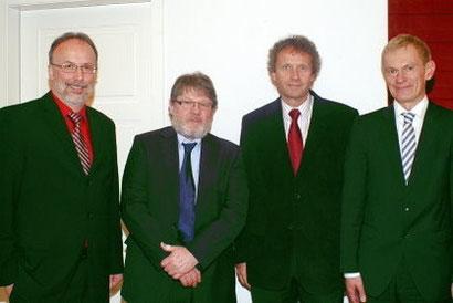 Von links: Gerhard Melching, Holger Neumann, Uwe Schwarz, Dr. Jürgen Peter