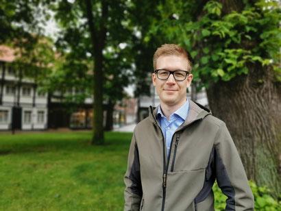 Klimaschutzmanager Johannes zur Bonsen (Foto: Werne Marketing GmbH/Nicole Friedrich)