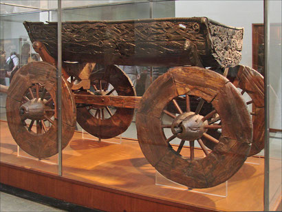 Wagon from the Oseberg ship, wikimedia