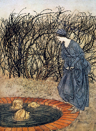 Rackham's 'Three Heads in the Well'. More miraculous severed heads.