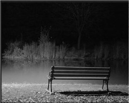 'Lonely park bench' -- for credit follow link