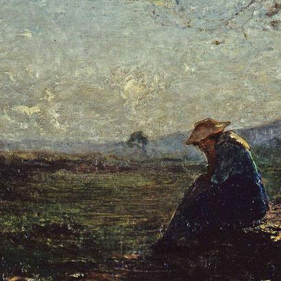 """Antonio Fontanesi, """"Solitudine"""" (1875)"""