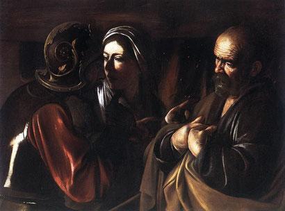 """Caravaggio, """"Negazione di San Pietro"""" (1609-1610)"""