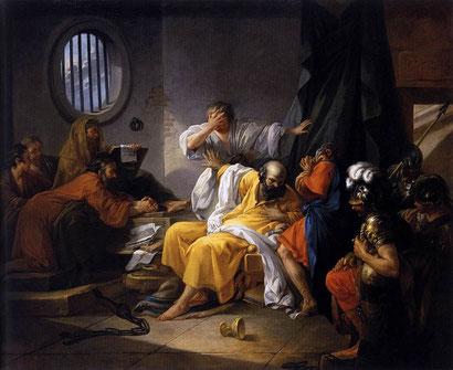 "J.-P.-J. de Saint-Quentin, ""La morte di Socrate"" (1762)"