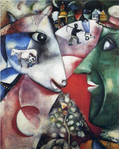 """Marc Chagall, """"Io e il villaggio"""""""