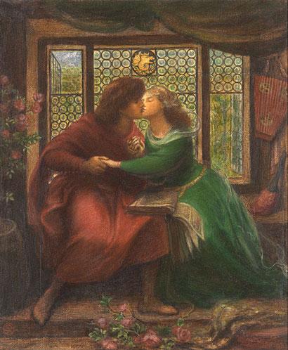 """Dante Gabriele Rossetti, """"Paolo e Francesca da Rimini"""""""