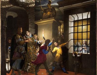 """Antonio Campi, """"Santa caterina visitata in carcere dall'imperatrice Faustina"""" (1584)"""